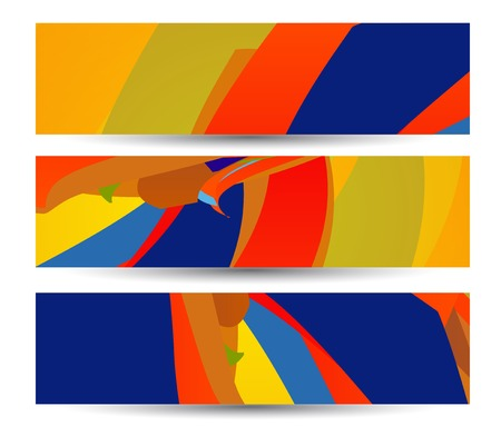 Retro abstract banner