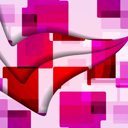 Abstract illustration, colorful square composition.