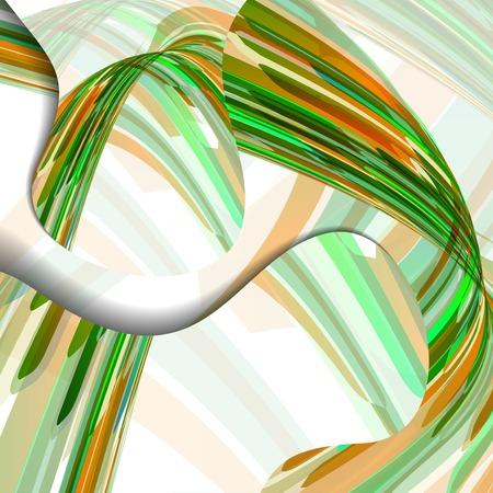 Colorful zigzag, abstract digital Illustration. Illustration