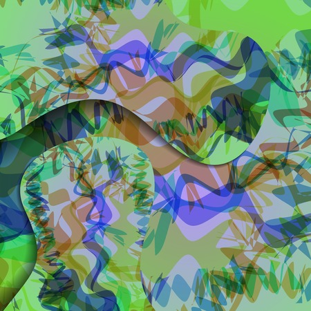 Colorful zigzag background, abstract digital Illustration.