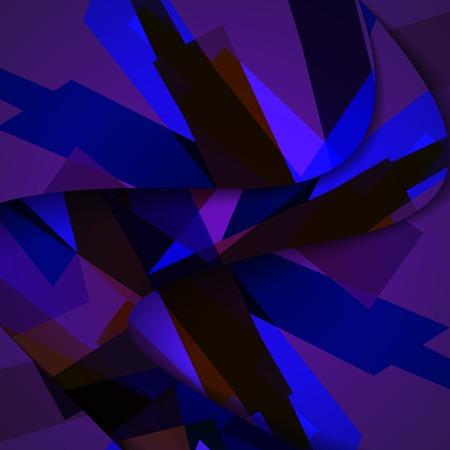 Abstract dark shape illustration, colorful design concept.