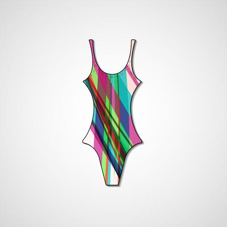 female swimsuit isolated on white background