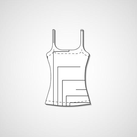 Abstract illustration on singlet, template editable. Vector