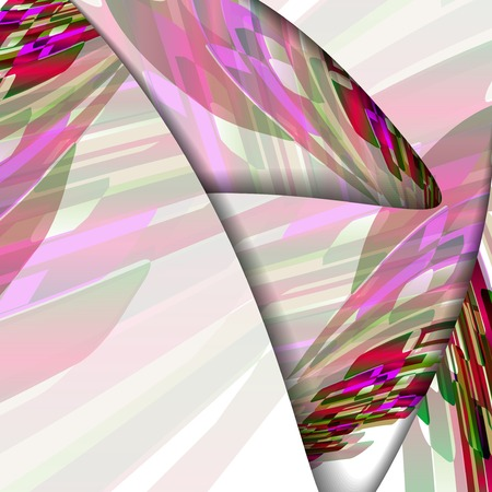 Abstract illustration, colorful digital composition. Vector