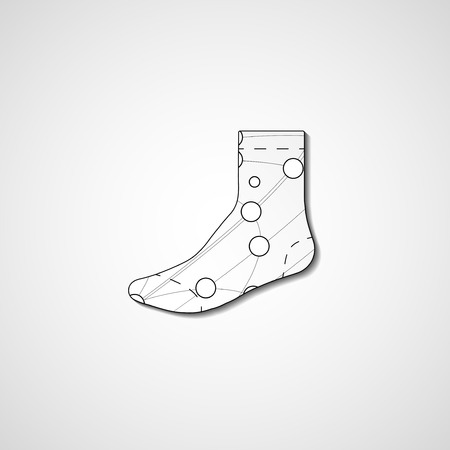 abstract illustration on sock template editable royalty free