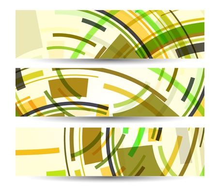 Abstract banner for your design, colorful digital Illustration. Vector
