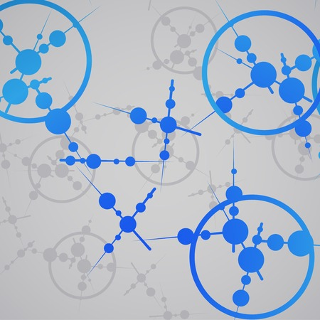 Molecule background, colorful illustration, digital composition. Vector