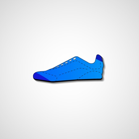 Abstract illustration on sneakers, template editable. Vector