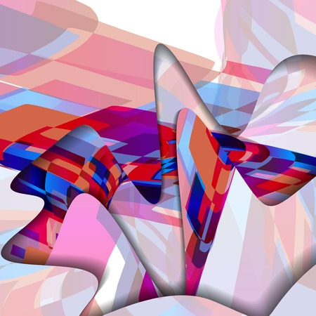 Abstract pattern of lines Illustration