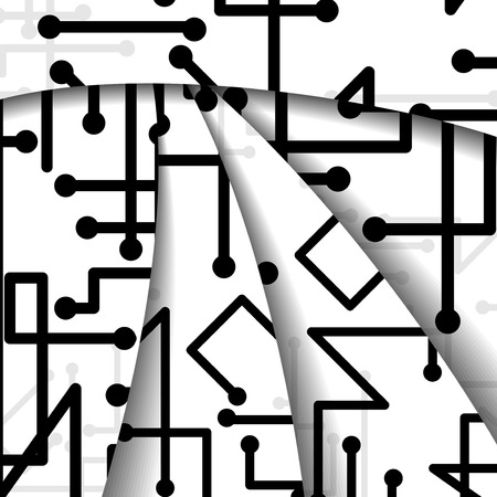 Circuit board illustration Illustration