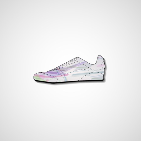 Abstract illustration on sneakers illustration
