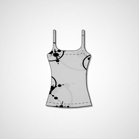 singlet: Abstract illustration on singlet Stock Photo