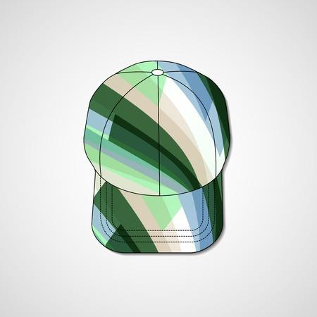 peaked cap: Abstract illustration on peaked cap
