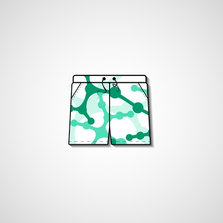 Abstract illustration on shorts Vector