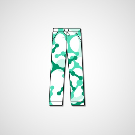 Abstract illustration on pants Vector