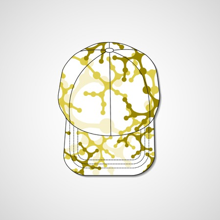 peaked: Abstract illustration on peaked cap