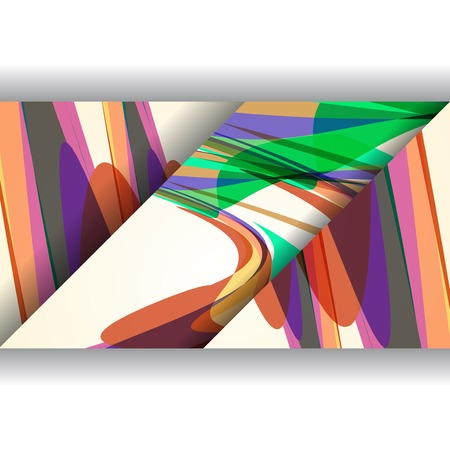 Abstract illustration, colorful digital composition. illustration