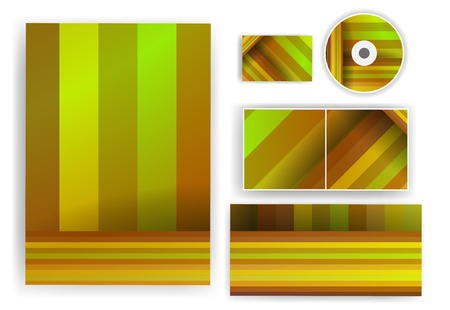 Stationery set for your design, colorful digital Illustration. Stock Photo