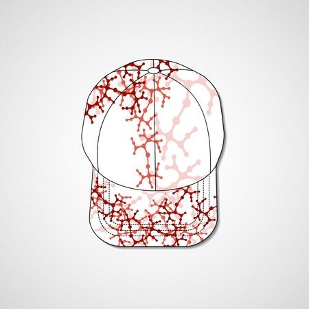 peak hat: Abstract illustration on peaked cap