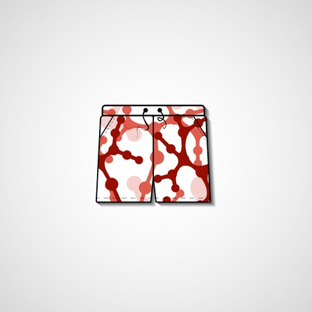 shorts: Abstract illustration on shorts