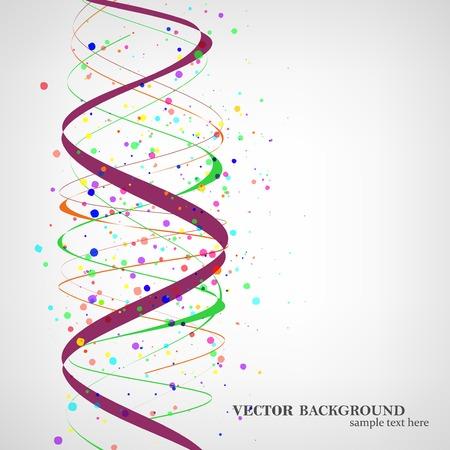 Dna molecule illustration Vector
