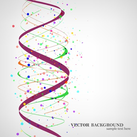 Dna molecule illustration Illustration