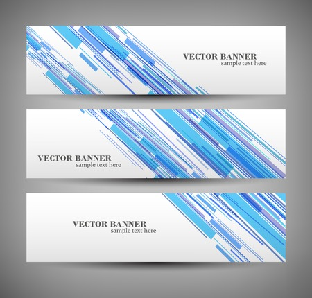 web graphics: Set banner abstract illustration