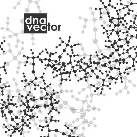 macromolecule: Molecule background, art illustration Illustration
