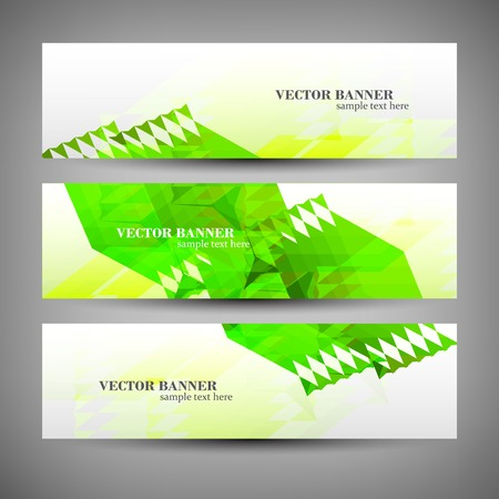 Set banner abstract illustration Vector