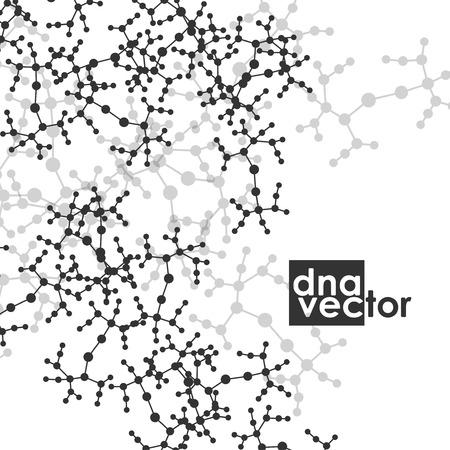 deoxyribose: Molecule background, art illustration Illustration