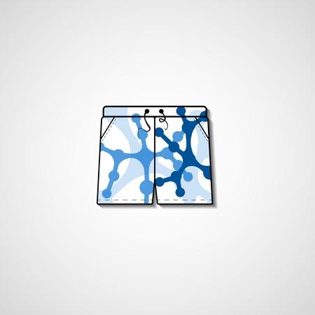 to sunbathe: Abstract illustration on shorts