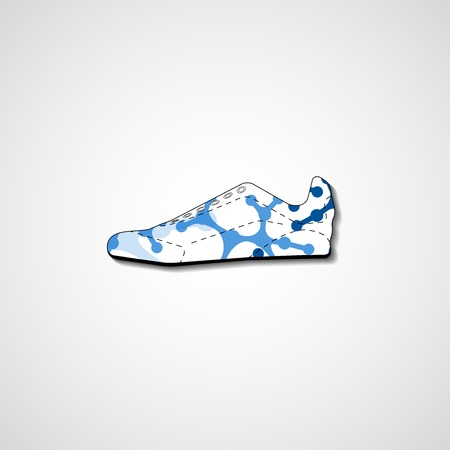 extreme science: Abstract illustration on sneakers