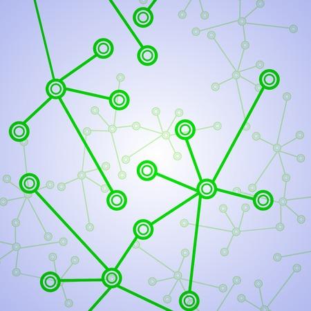 deoxyribose: Molecule background, colorful illustration, digital composition. Stock Photo