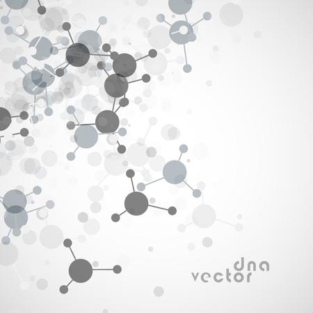 Molecule background vector illustration - digital composition.