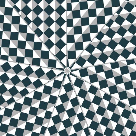arte optico: Arte óptico dinámico - composición digital.