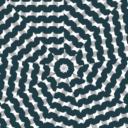 optical: Dynamic optical art - digital composition. Illustration