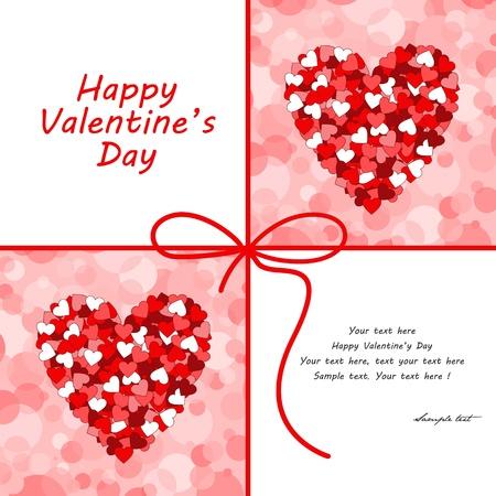 Valentijnsdag kaart. Stock Illustratie