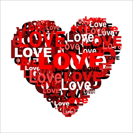 Heart shape from letters. Vector illustration. Stock Vector - 12117114