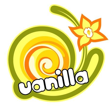 vanilla pudding: Postre de vainilla. Vectores