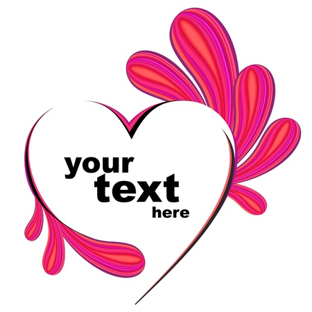 valentin day: Heart vector.