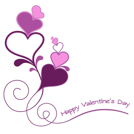 open day: Vector valentines day card. Illustration