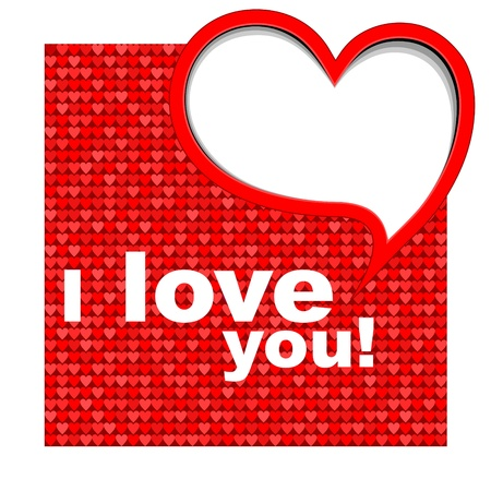 Valentine's card background with heart. Vectores