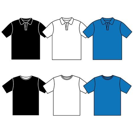 ポロ: T シャツ ポロシャツ  イラスト・ベクター素材