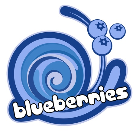 Blueberries ice cream. Vector