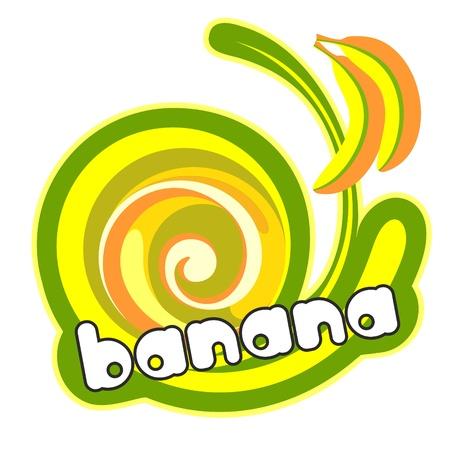 젤리: 디저트 바나나. 일러스트