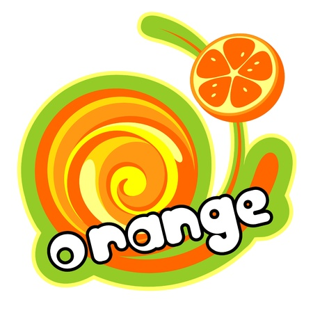 Orange ice cream. Vector