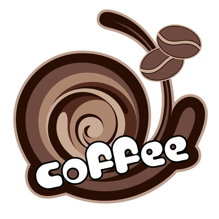 Coffee label. Illustration