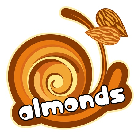 Almonds dessert. Vector