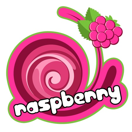 pudding: Raspberry background for design of packing.  Illustration