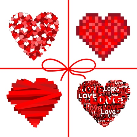 valentin day: Set of heart. Valentine